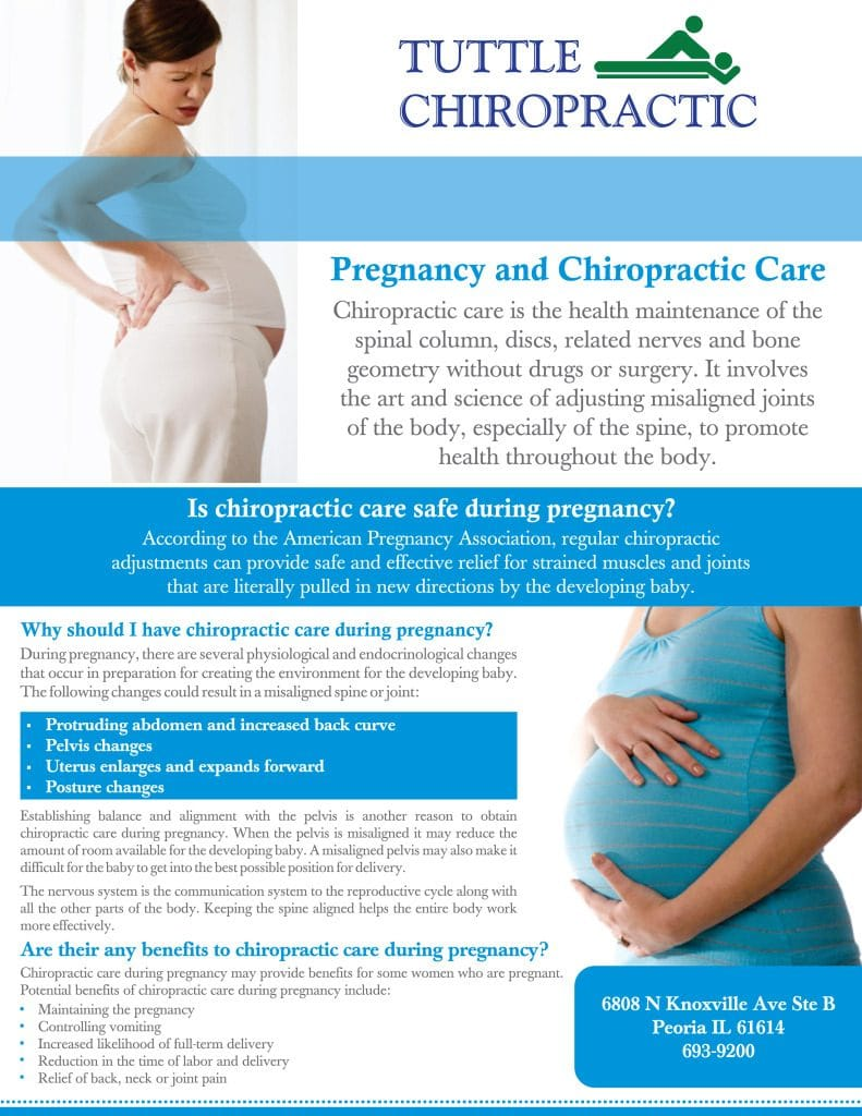 Chiropractic Peoria IL Pregnancy and Chiropractic